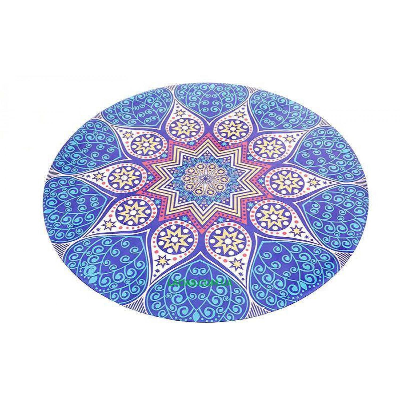 Коврик для йоги замшево-каучуковый 3мм двухслойный (принт Возрождение,диаметр 150см)