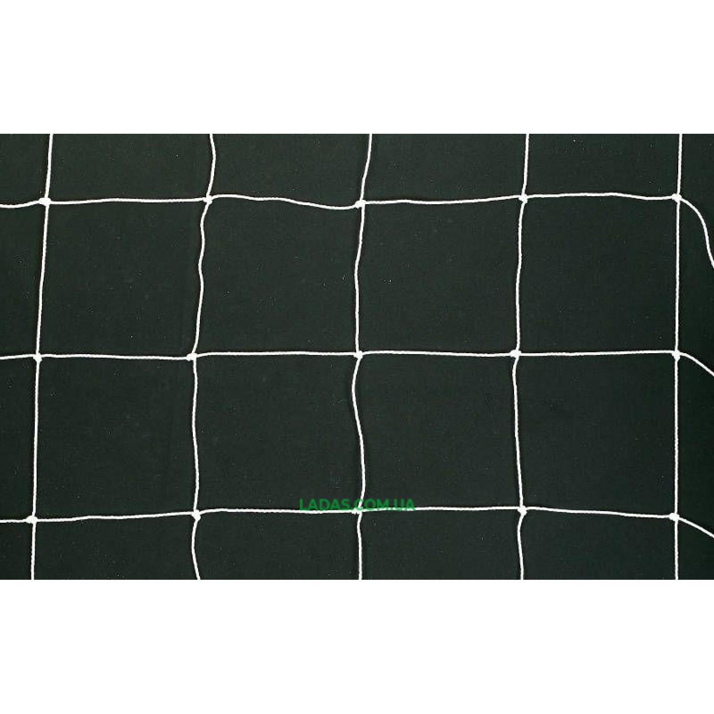 Сетка на ворота футбольные любительская узловая (2шт) (нить 2мм, ячейка 14x14см, р-р