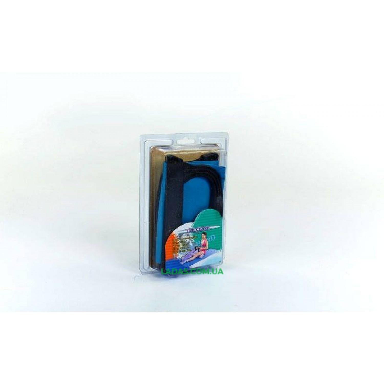 Лента-эспандер с ручками для пилатеса (р-р 0,75м x 15см x 0,65мм, PS , латекс, пластик)