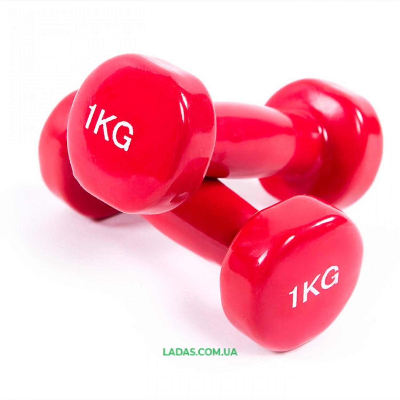 Гантели для фитнеса виниловые (2*1кг)