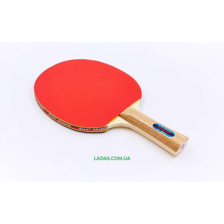 Ракетка для настольного тенниса 1 штука GIANT DRAGON ENERGY SERIES( древесина, резина)