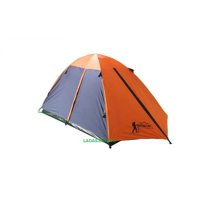 Палатка кемпинговая 3-х местная с тентом и коридором TOURIST