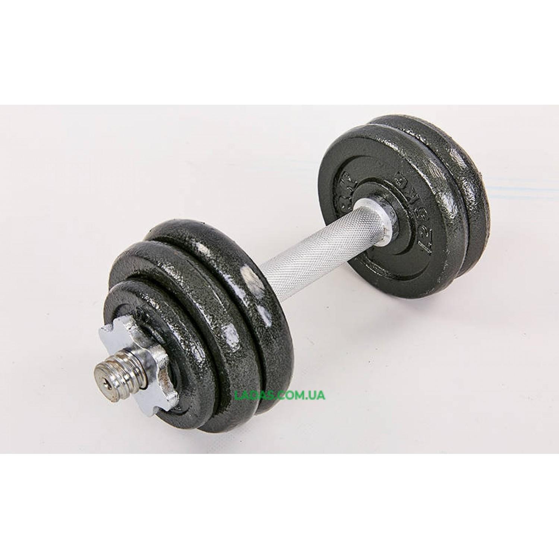 Гантели разборные (2шт) стальные 15кг (2 грифа l-30см)