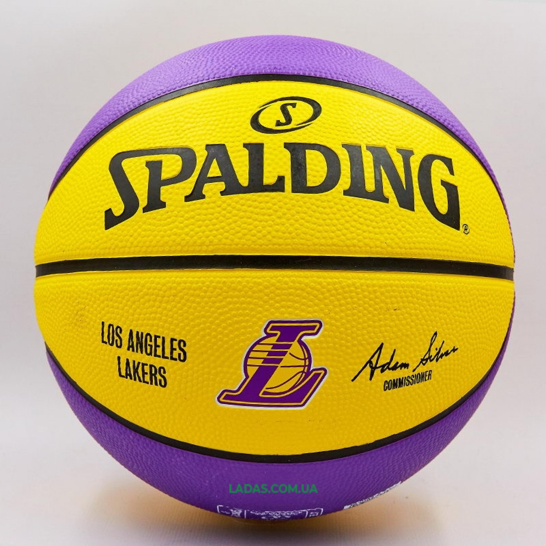 Мяч баскетбольный резиновый №7 SPALDING NBA Team LA LAKERS