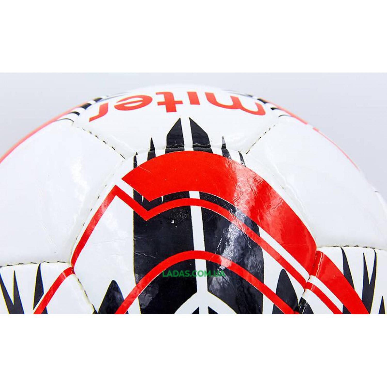 Мяч футбольный №5 PU ламинированный MITER (бело-красный, сшит вручную)