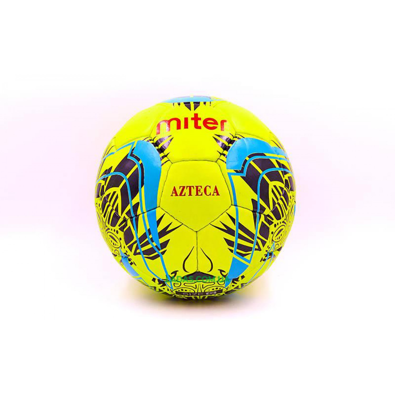 Мяч футбольный №5 PU ламинированный MITER (салатовый, сшит вручную)