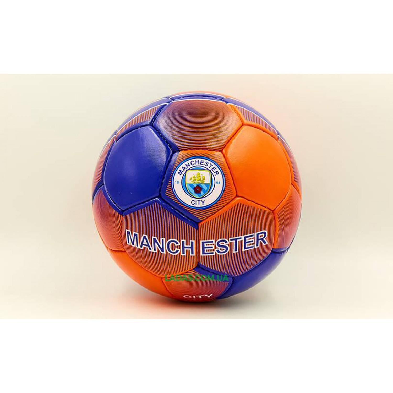 Мяч футбольный №5 Гриппи MANCHESTER CITY (№5, 5 сл., сшит вручную)