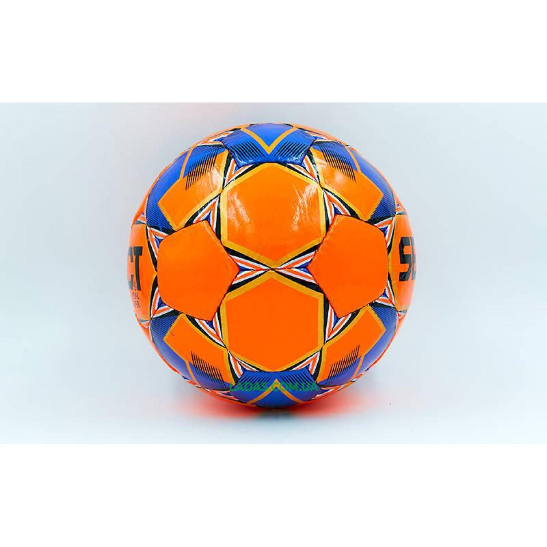 Мяч для футзала №4 ламинированный ST SUPER (оранжево-синий, сшит вручную)