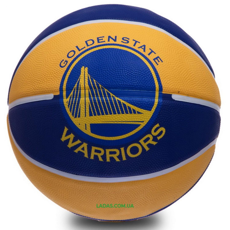 Мяч баскетбольный резиновый №7 SPALDIN 83304Z NBA TEAM-WARRIORS