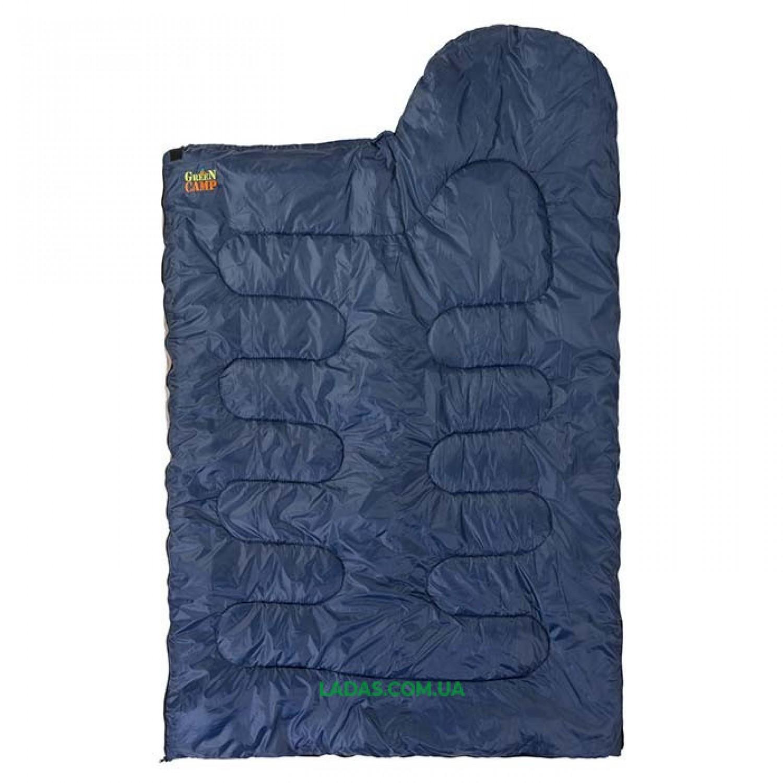 Спальник GreenCamp 450гр/м2 синий GRC1009-B