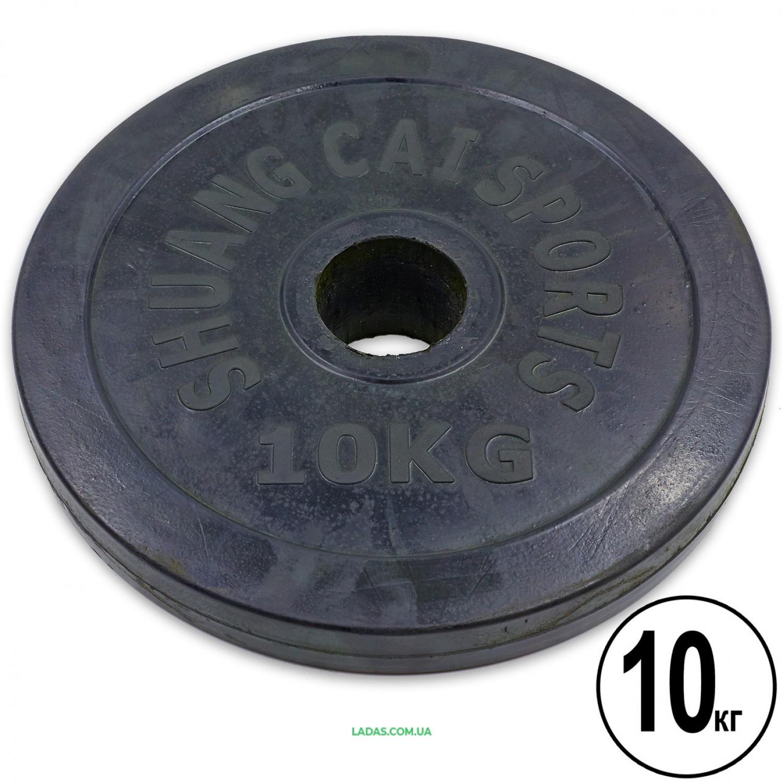 Блины (диски) 10кг обрезиненные d-52 мм (1шт*10 кг)