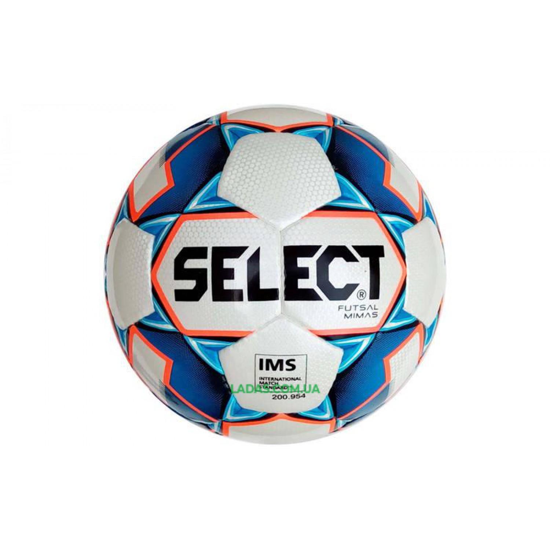 Мяч футзальный №4 SELECT FUTSAL MIMAS IMS (FPUS 1300, бело-синий)