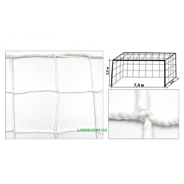 Сетка на ворота футбольные тренировочная узловая (2шт) (PP 2,5мм, ячейка 15x15см)