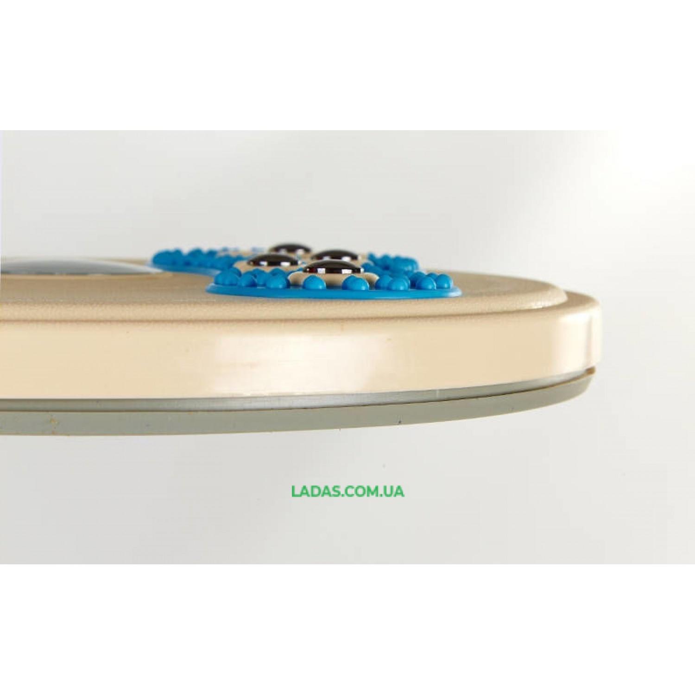 Диск здоровья с массажером рефлекторных зон на стопах Pro Supra (пластик, толщина-2,7см, d-28см)