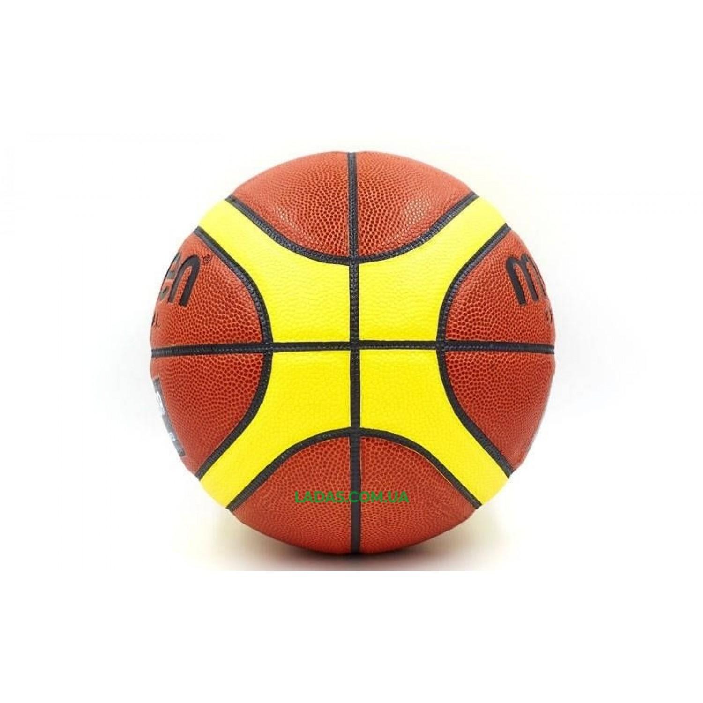 Мяч баскетбольный PU №6 Mol (коричнево-бежевый, для женщин)