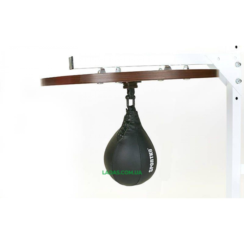 Груша пневматическая на платформе SPORTKO UR (верх груши-кожа, резин.камера)