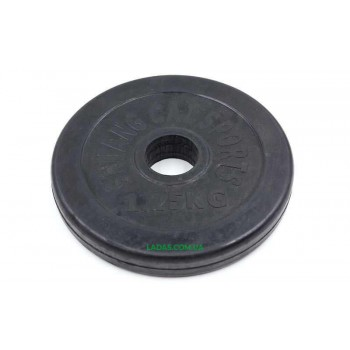 Блины (диски) 1,25кг обрезиненные d-30мм (1шт*1,25 кг)