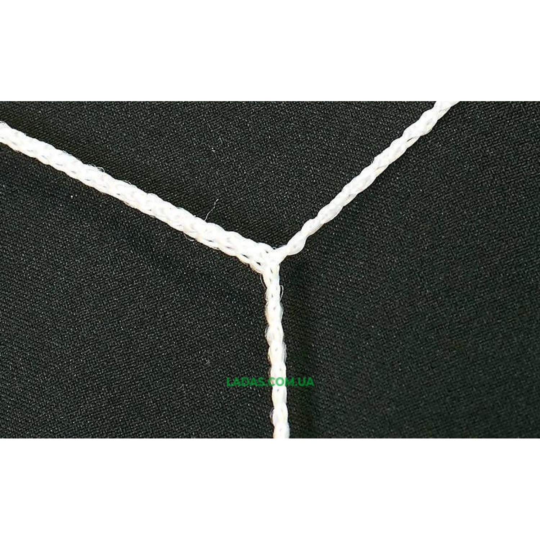 Сетка на ворота футбольные тренировочная безузловая (2шт) Трапеция (нить 2,5мм, ячейка 7,5x7,5см, р-р 7,4*2,5)
