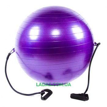 Мяч для фитнеса (фитбол) с эспандером IronMaster (65см, ABS)