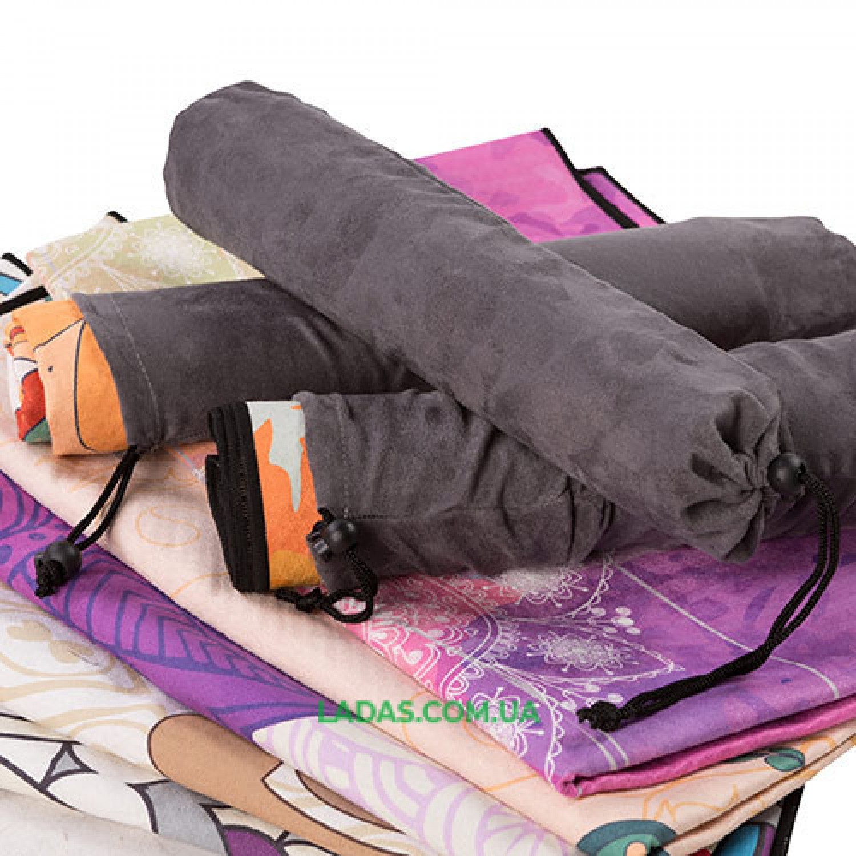 Коврик для йоги и фитнеса замшевый (р-р 185*67*0,2см, силикон+замша)
