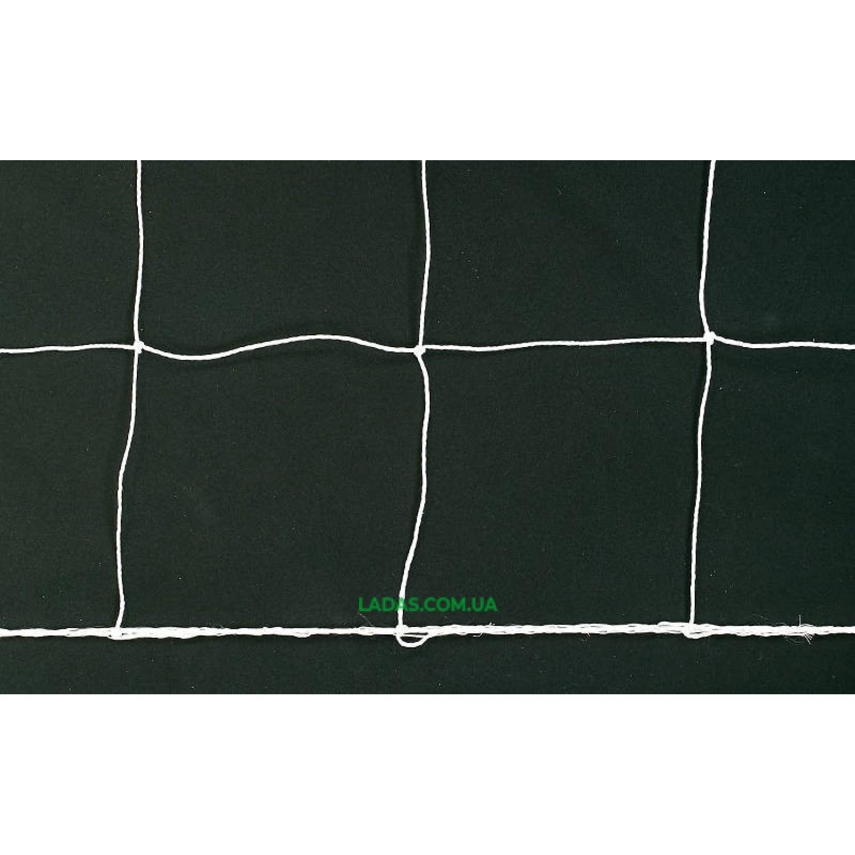 Сетка на ворота футбольные любительская узловая (2шт)(нить 1,5мм, ячейка 12x12см, р-р 2,5*7,4*2м)