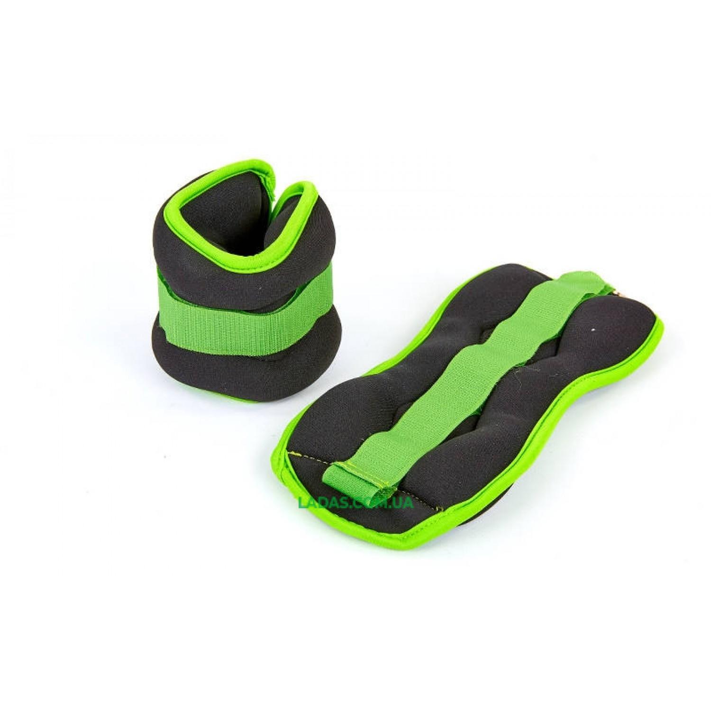 Утяжелители-манжеты для рук и ног (2 x 1кг) (неопрен, метал.шарики)