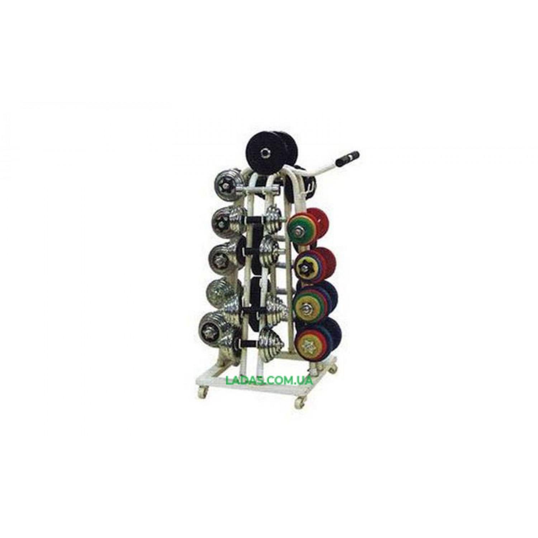 Подставка (стойка) четырехсторонняя для гантелей SC-8032