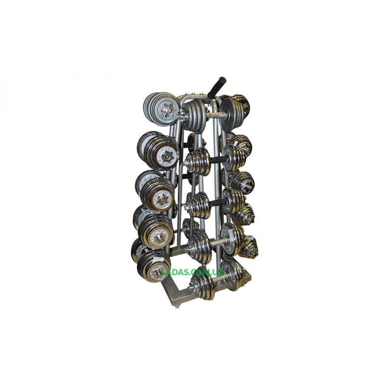 Подставка (стойка) четырехсторонняя для гантелей SC-8032A