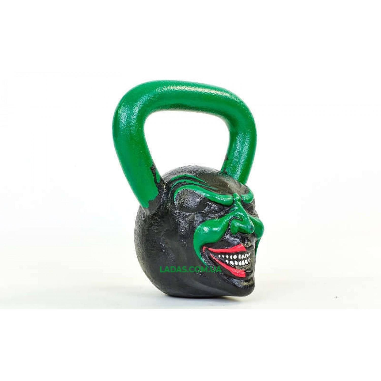 Гиря чугунная окрашенная черная Demon 16к