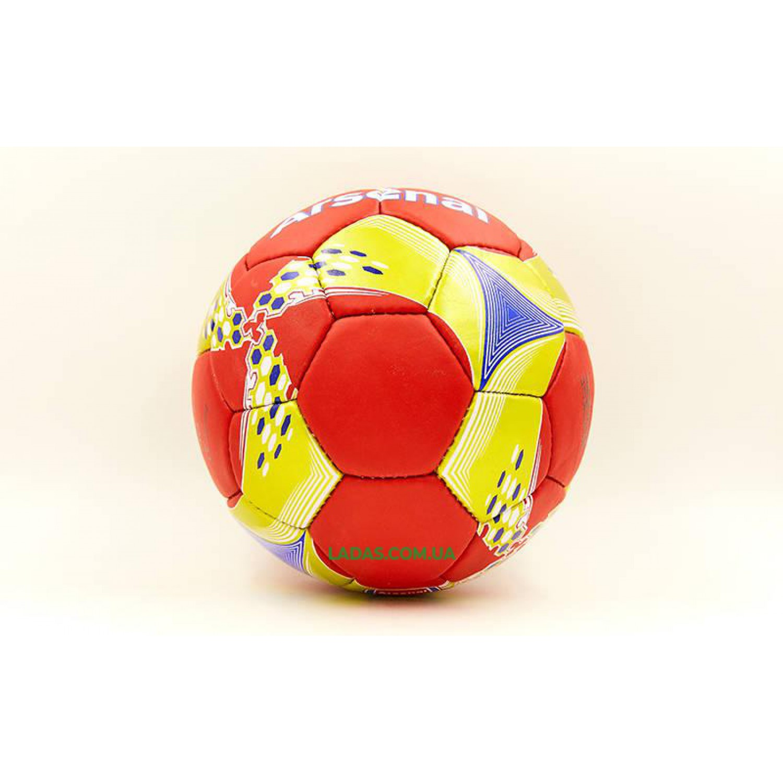 Мяч футбольный №5 Гриппи ARSENAL (№5, 5 сл., сшит вручную)