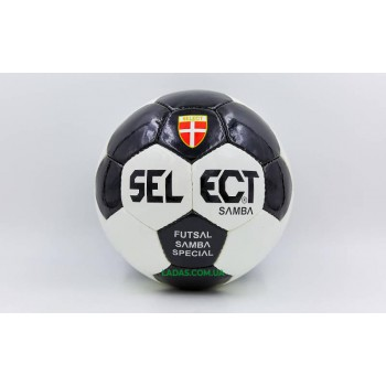 Мяч для футзала №4 ламинированный ST SAMBA SPECIAL (бело-черный, сшит вручную)