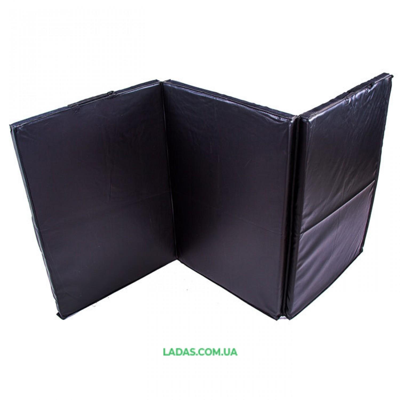 Мат (складной из 3-х частей ) 180*90*4см, черный