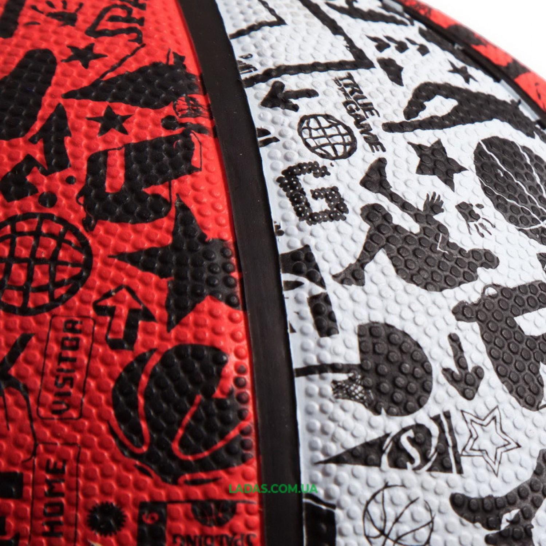 Мяч баскетбольный резиновый №7 SPALDIN 83574Z NBA GRAFFITI
