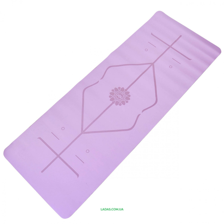 Коврик для йоги с разметкой PU 5мм Record FI-8307 (размер 1,83мx0,68мx5мм, цвета в ассортименте)