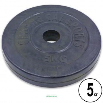 Блины (диски) 5кг обрезиненные d-30мм (1шт*5 кг)