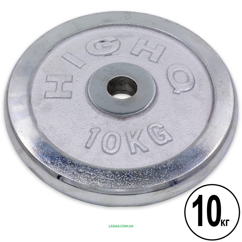 Блины (диски) хромированные d-30мм (1шт*10кг)