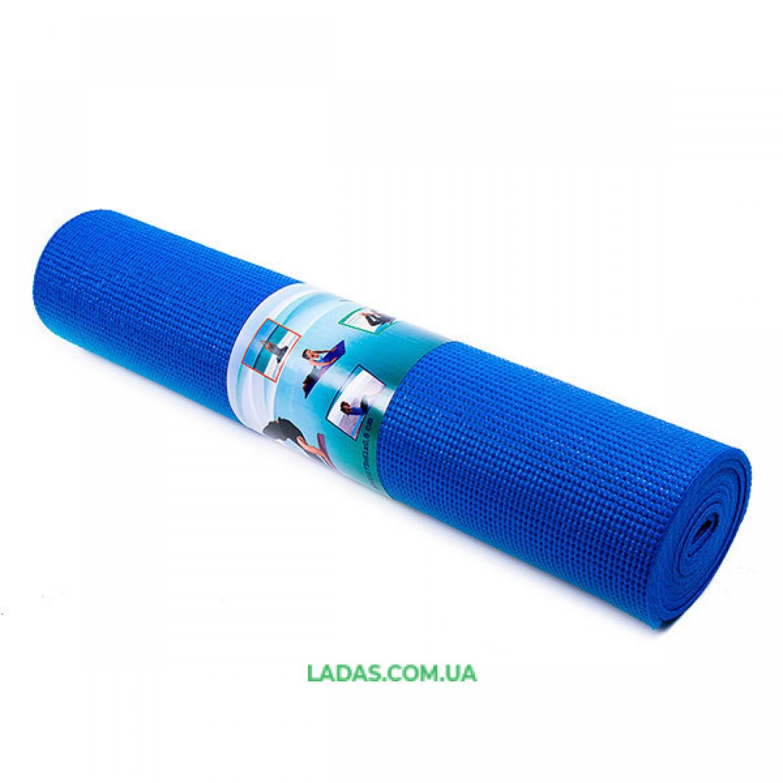 Коврик для фитнеса однослойный GreenCamp (173см*61см*5мм, PVC)