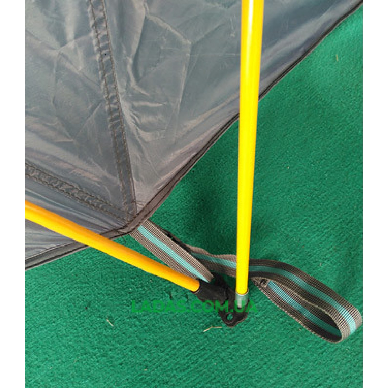 Палатка 6-ти местная GreenCamp 920, автомат(вес: 9,9кг, цвет:серый-стальной)