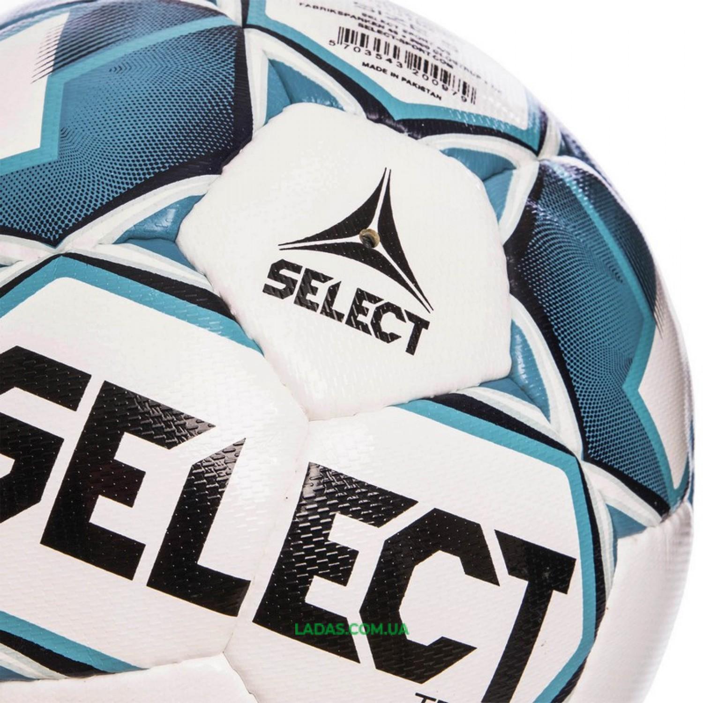 Мяч футбольный №5 SELECT TEAM IMS (FPUS 1300, бело-голубой)