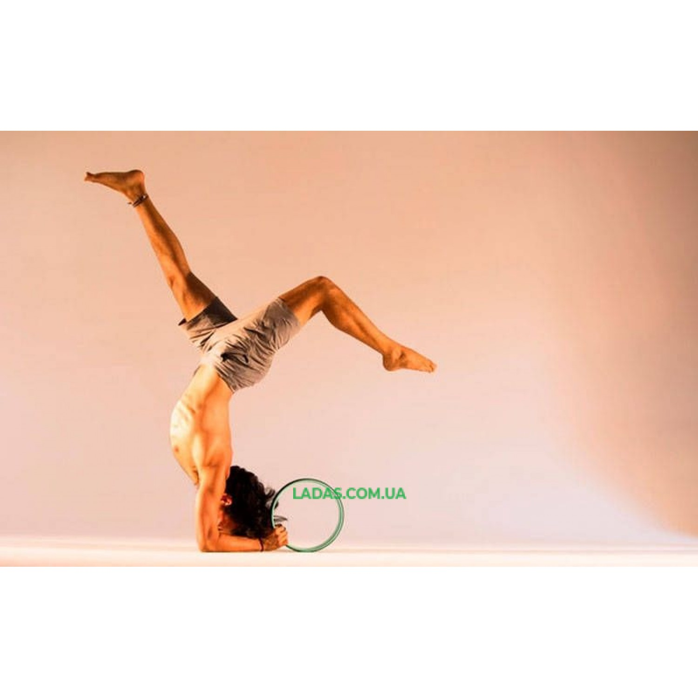 Колесо-кольцо для йоги Fit Wheel Yoga (PVC, TPE, р-р 32х13см, зелено-фиолетовый)
