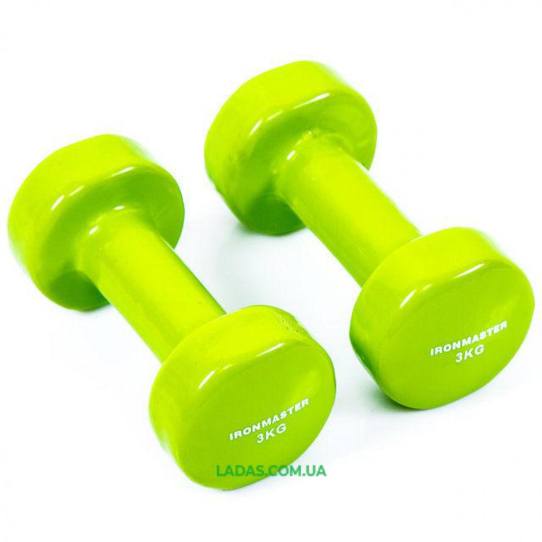 Гантели для фитнеса виниловые IronMaster(2*3кг)