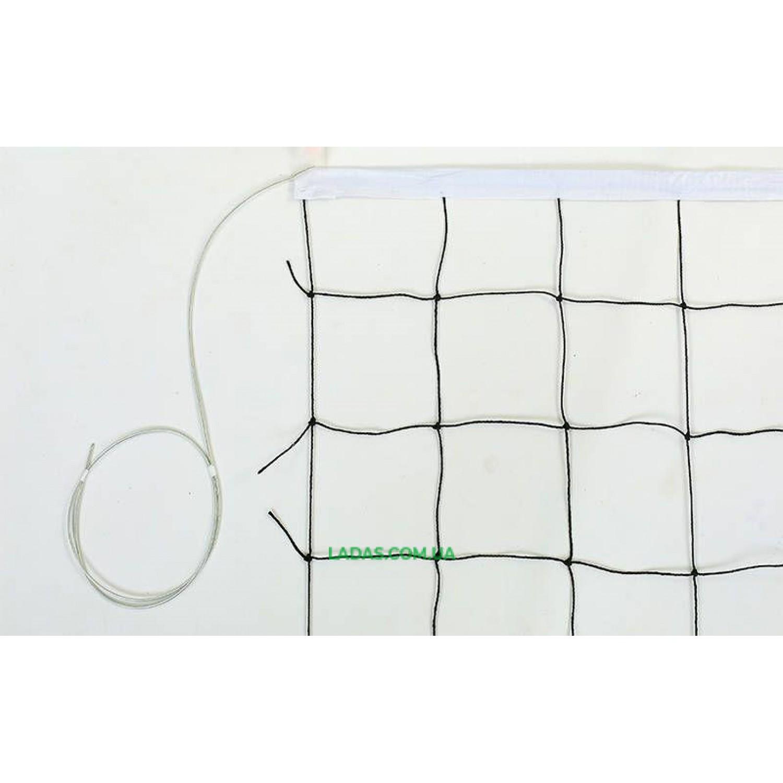 Сетка для волейбола (PP 2,5мм, р-р 9,5x1м, ячейка 12x12см, с метал. тросом)