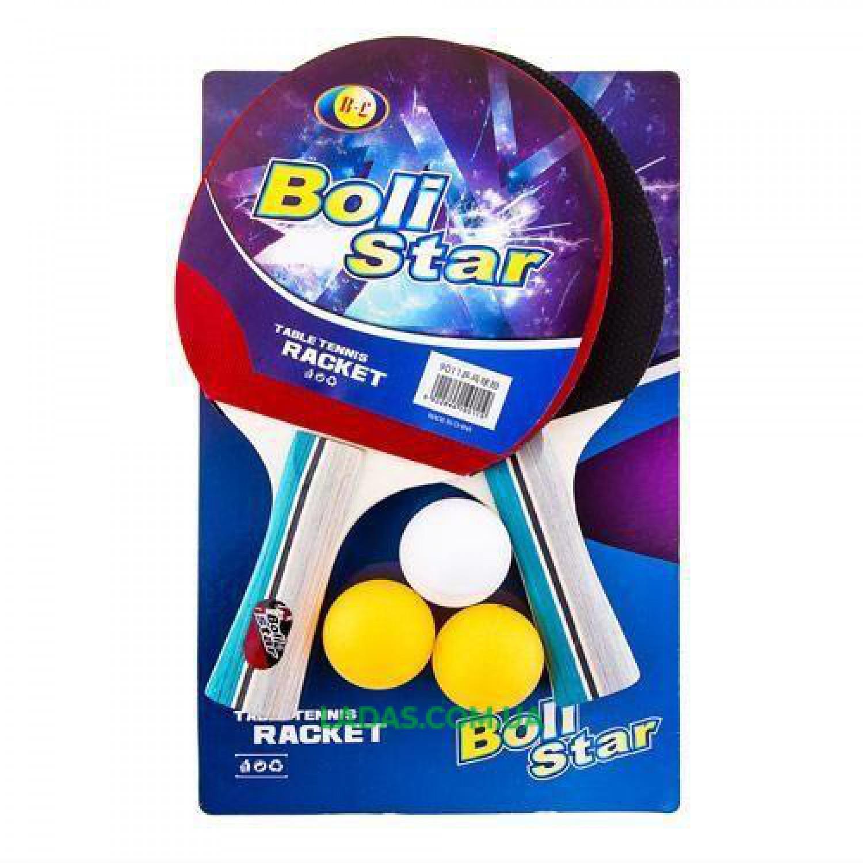 Набор для настольного тенниса 2 ракетки, 3 мяча Boli Star