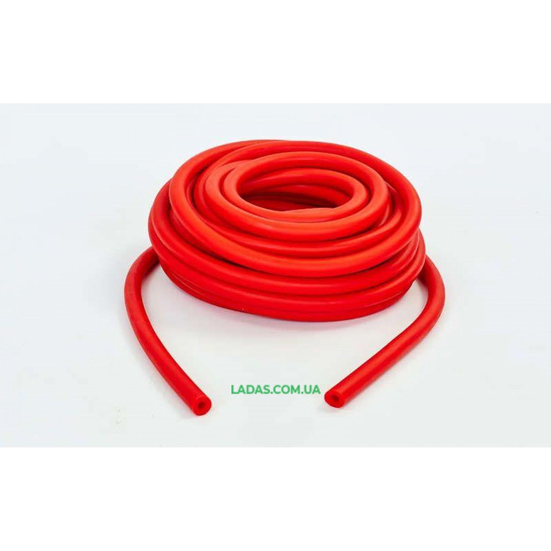 Жгут эластичный трубчатый спортивный (латекс, d-5 x 11мм, l-1000см, красный)