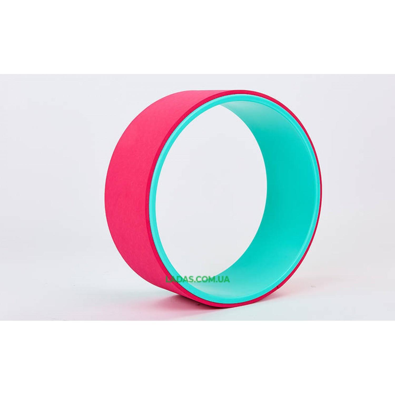 Колесо-кольцо для йоги Fit Wheel Yoga (PVC, TPE, р-р 32х13см)