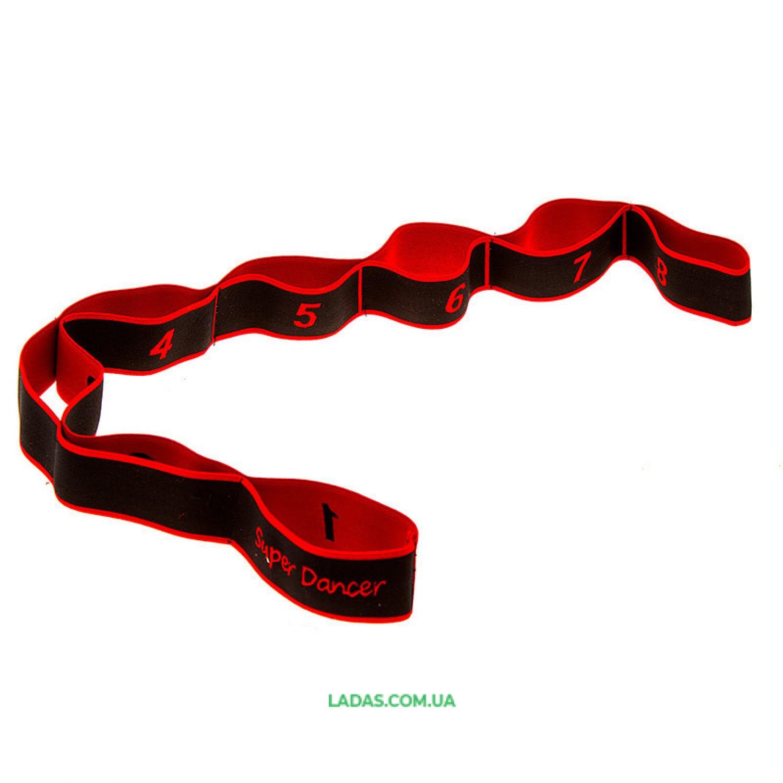 Лента (ленточный эспандер) для растяжки (р-р 85*4 см, 8 петель)