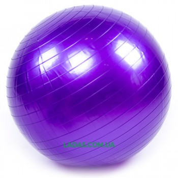 Мяч для фитнеса (фитбол) гладкий глянцевый 75см (PVC,1000г, ABS)