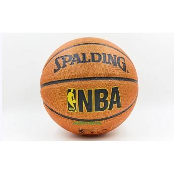 Мяч баскетбольный PU №7 SPALD NBA GOLD (PU, бутил, оранжевый)