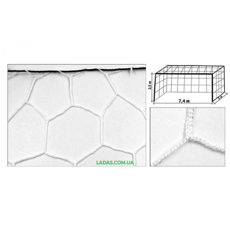 Сетка на ворота футбольные тренировочная безузловая (2шт) С-5003
