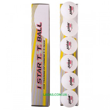 Шарики для настольного тенниса DHS 1* белый 6шт D-16